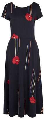 Emily And Fin Sophie California Poppy Midi Dress - 10