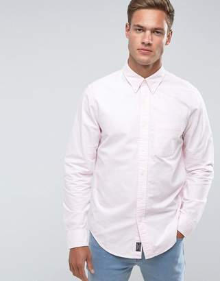 Abercrombie & Fitch Oxford Shirt Slim Fit in Pink
