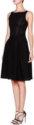 Giorgio Armani Sleeveless Fit-&-Flare Knit Dress, Black $3,475 thestylecure.com