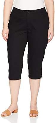 330b87e4878d Lee Indigo Women's Plus Size Comfort Collection L-Pocket Twill Capri
