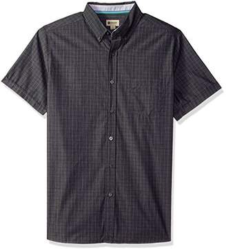 Haggar Men's Short Sleeve Shirt with Chambrey Trim