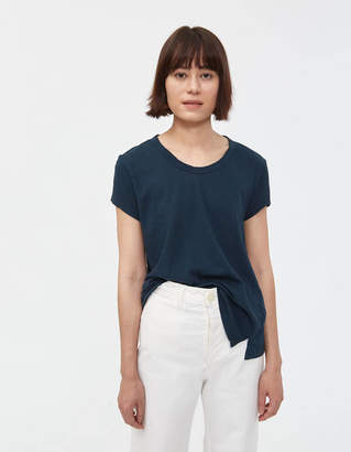 Bassike Fitted Cap Sleeve Tee