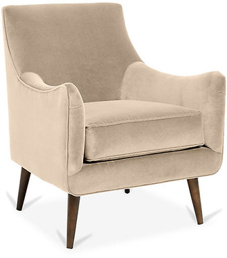 One Kings Lane Oliver Accent Chair - Bisque Crypton