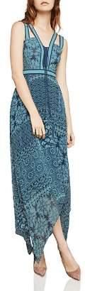 BCBGMAXAZRIA Tile Patchwork-Print Maxi Dress