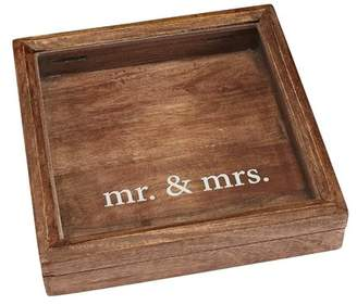 Mud Pie Mr. & Mrs. Keepsake Wood Shadow Decorative Box