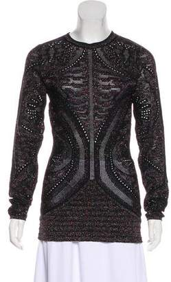 Just Cavalli Glitter Long Sleeve Top