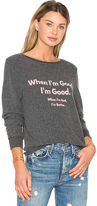 Wildfox Couture When I'm Good Top in Charcoal $98 thestylecure.com