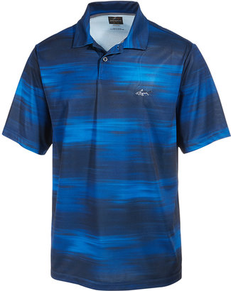 Greg Norman For Tasso Elba Men's Performance Mono Halftone-Print Polo, Only at Macy's $55 thestylecure.com
