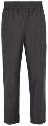 Raey Elasticated Waist Wool Trousers - Mens - Grey