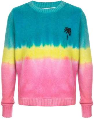 The Elder Statesman dyed palm tree jumper