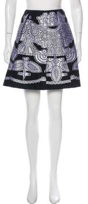 Anna Sui Embroidered Pleated Skirt