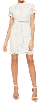 Women's Missguided Ladder Stitch Lace Dress $113 thestylecure.com