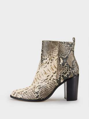 Donna Karan Donnakaran Houston Snake Print Ankle Boot