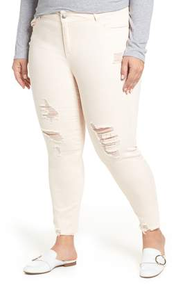 Rachel Roy Icon Distressed Skinny Jeans