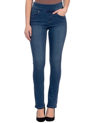 LOLA Cosmetics Jeans High-Rise Pull-On Straight Leg Jeans- Rebeccah