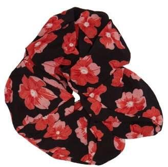 Ganni Floral Print Scrunchie - Womens - Red