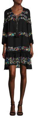 Derek Lam 10 Crosby Embroidered Silk Ruffle Dress $595 thestylecure.com
