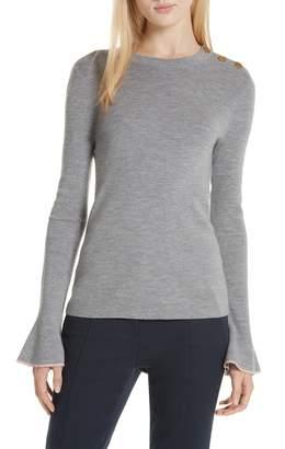 Tory Burch Kimberly Flare Cuff Sweater