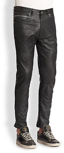 Diesel Leather Pants