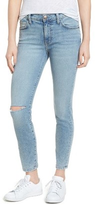 Women's Current/elliott The High Waist Stiletto Ankle Skinny Jeans $208 thestylecure.com