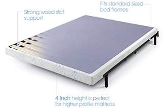 Zinus 4 Inch Low Profile Metal Box Spring with Wood Slats King