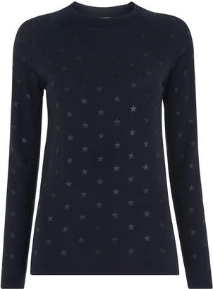 Whistles Star Printed Crew Neck