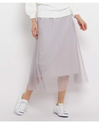 Dessin (デッサン) - デッサン [洗える][ウエストゴム]チュールロングスカート