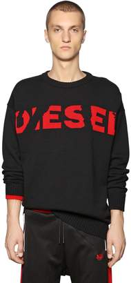 Diesel Oversize Wool Blend Jacquard Sweater