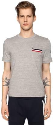Moncler Gamme Bleu Cotton Jersey T-Shirt W/ Pocket