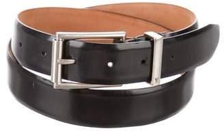 Louis Vuitton Silver-Tone buckle Leather Belt