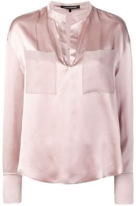 Luisa Cerano split neck blouse
