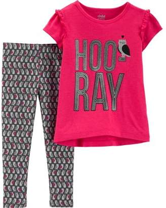 Carter's Child of Mine by Short Sleeve Graphic T-Shirt & Leggings, 2-Piece Outfit Set (Toddler Girls)