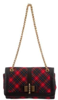 Christian Louboutin Sweet Charity Tartan Shoulder Bag Red Sweet Charity Tartan Shoulder Bag