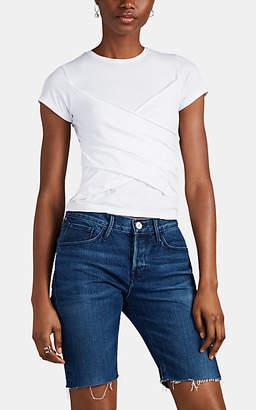 ATM Anthony Thomas Melillo Women's Draped-Front Cotton-Blend T-Shirt - White