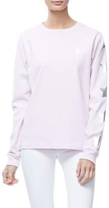 Good American Goodies Iridescent Star Skater Tee - Pink001