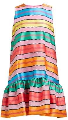 Mary Katrantzou Ellis Jacquard Striped Organza Mini Dress - Womens - Multi