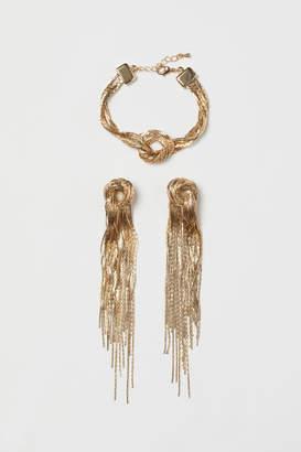 H&M Bracelet and Earrings - Gold