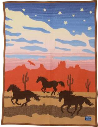 Pendleton Wild Horses Crib Blanket