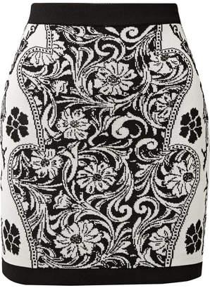 Balmain Jacquard-knit Mini Skirt