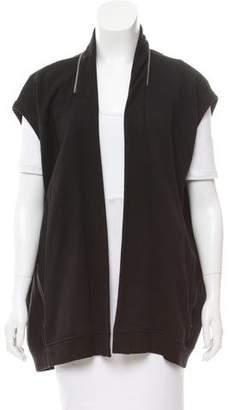 AllSaints Knit Zip-Accented Vest