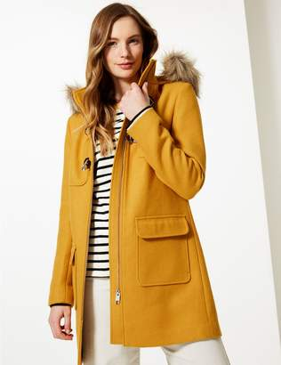 Marks and Spencer Faux Fur Duffle Coat
