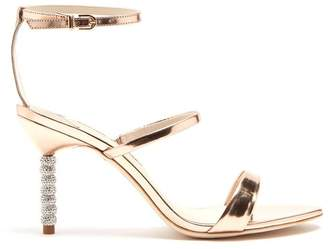 Sophia Webster Rosalind Crystal Embellished Heel Leather Sandals - Womens - Rose Gold