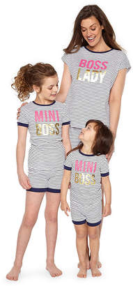 Asstd National Brand Mommy & Me Womens Shorts Pajama Set 2-pc. Short Sleeve Mommy and Me