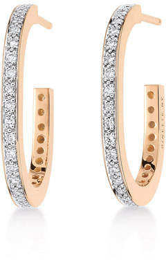 ginette_ny TV 18k Rose Gold Diamond Hoop Earrings