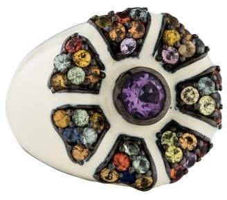 MCL by Matthew Campbell Laurenza Flowering Amethyst & Sapphire Cocktail Ring