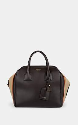 Burberry Women's Medium Leather Bowling Bag - Pumpkin
