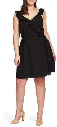 1 STATE 1.STATE Ruffle Trim Wrap Dress