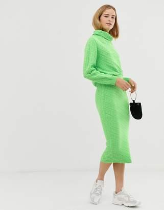 Asos DESIGN two-piece textured midi skirt
