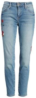 Mavi Jeans Adriana Embroidered Ankle Skinny Jeans