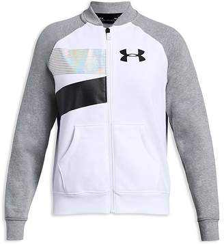 Under Armour Girls' Rival Bomber Jacket - Big Kid